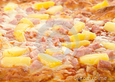 Gekookte Hawaiiaanse Pizza
