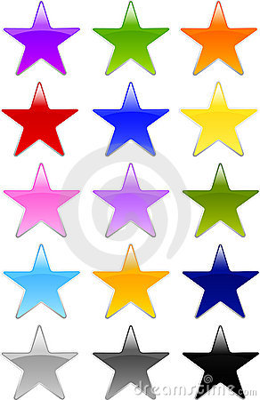 Gel or Glass Star Shape Buttons