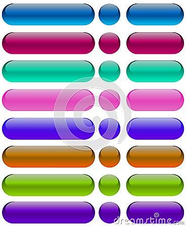 Gel web buttons