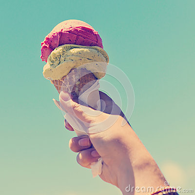 Free Gelati Ice Cream Cone Instagram Royalty Free Stock Image - 44129576