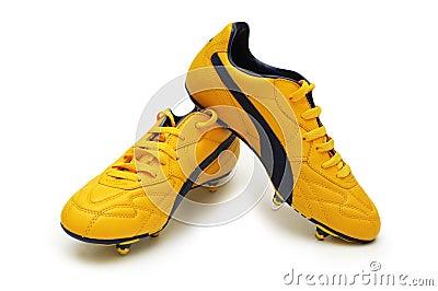 Gelbe Fußballmatten