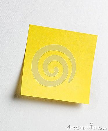 Gelbe klebrige Anmerkung