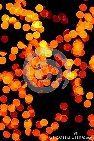 Gelbe undeutliche Leuchten