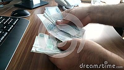 Geld Rekeningen cash Zaken - leef stock footage