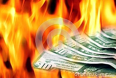 Geld zum zu brennen