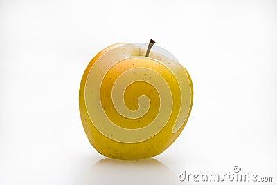 Gele appel met ent