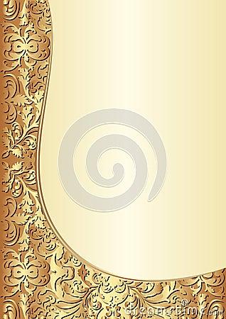 Gele en gouden achtergrond
