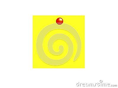 Gele kleverige nota