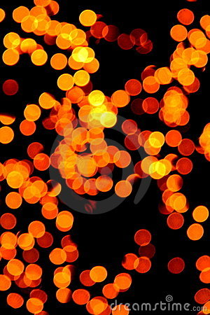 Gele onscherpe lichten