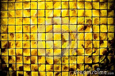 Gele vierkanten