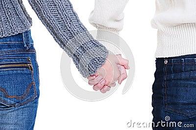 Geliebte Paarholdinghände