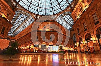 Gelleria Vittorio Emanuele II in Milan Editorial Photography