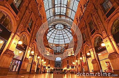 Gelleria Vittorio Emanuele II in Milan Editorial Image