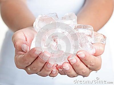Gelo - mãos frias