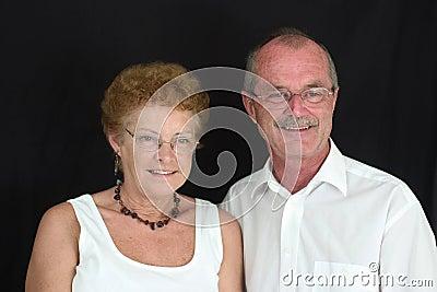 Gelukkig bejaard paar (4)