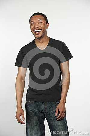 Gelukkig heup zwart mannetje stock foto afbeelding 63962058 - Mode stijl amerikaans ...