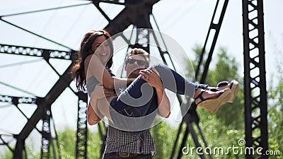 Gelukkig paar in liefde stock footage