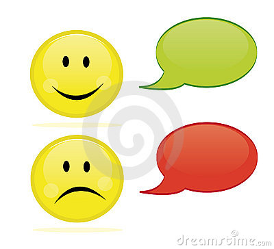 Gelukkige en droevige emoticon
