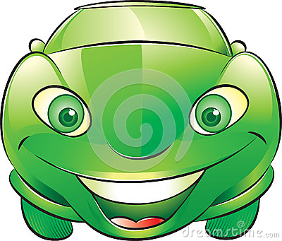Gelukkige groene auto