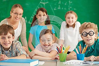 Gelukkige leerlingen