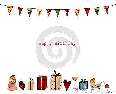 Gelukkige Verjaardag. De kaart van de groet