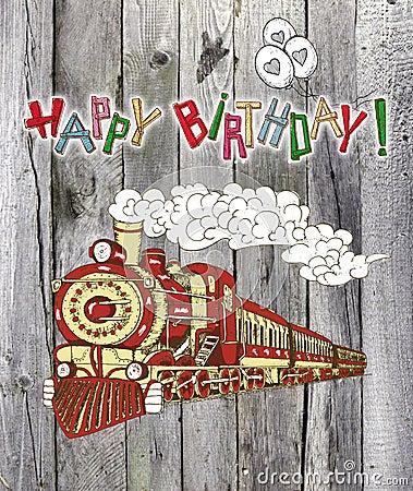verjaardag man trein