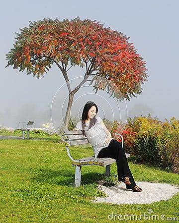 Gelukkige zwangerschapsvrouw