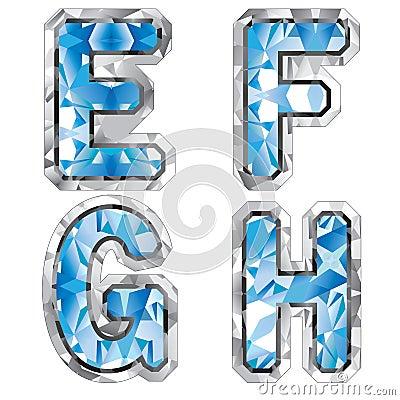 Gem letter E F G H