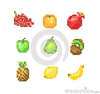 8 Bit Pixel Fruits