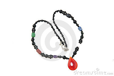 Gem necklace jewelery
