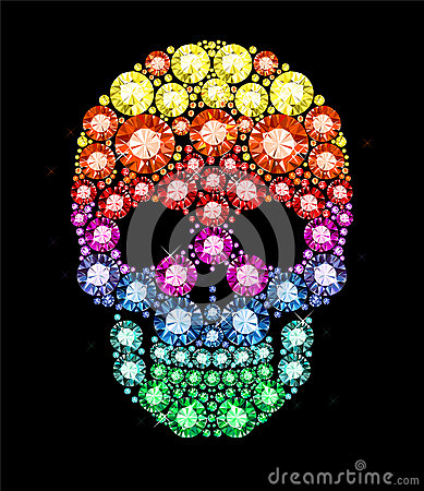 Free Gem Skull Royalty Free Stock Images - 36716529