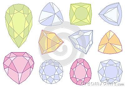 Gem stones,