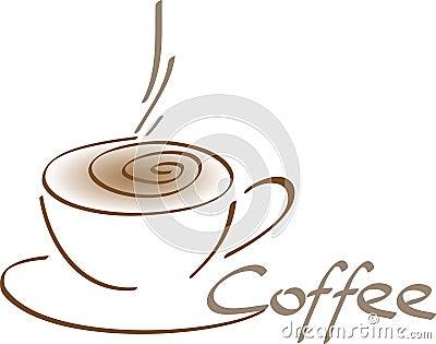 gemalte kaffeetasse vektor abbildung bild 54291924. Black Bedroom Furniture Sets. Home Design Ideas