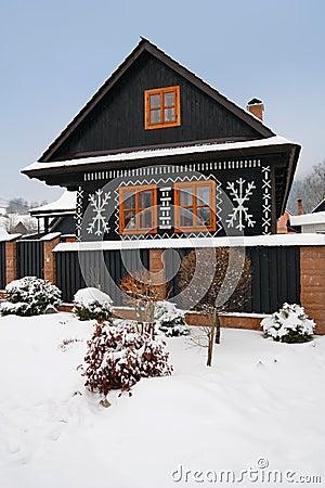 Gemaltes Haus in cicmany