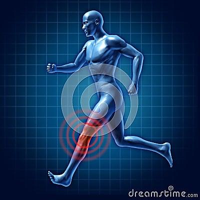 Gemeinsame Schmerz des menschlichen Knietherapieseitentriebes medizinisch