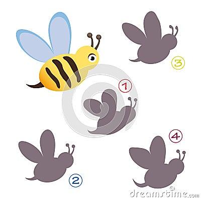 Gemowy pszczoła kształt