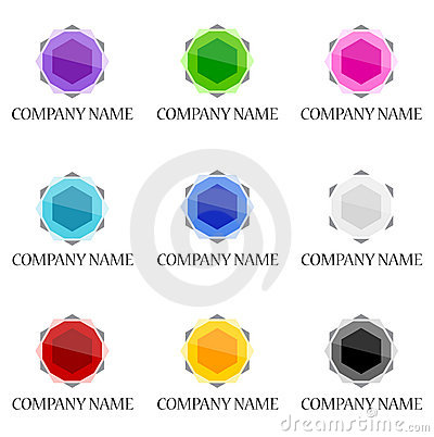 Gemstone icon and logo designs