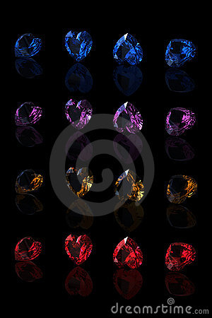 Gemstones collections shape of heart