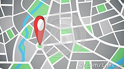 Genauigkeit auf der Karte, geographischer Standort vektor abbildung