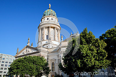 The Gendarmenmarkt. French Cathedral in Berlin