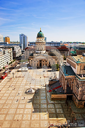 The Gendarmenmarkt and German Cathedral in Berlin