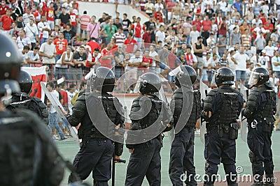 Gendarmerie officers restore public order Editorial Image