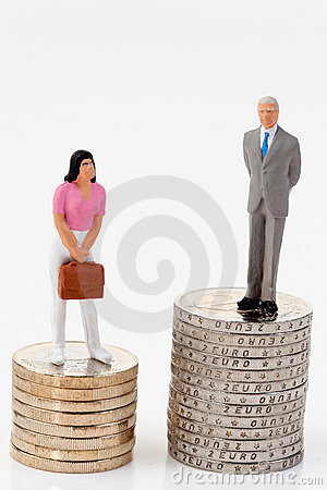 Free Gender Differences In Salaries Stock Photos - 9916523