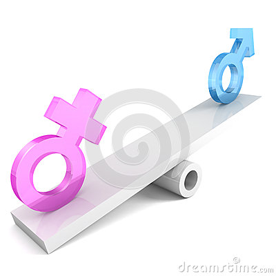 Free Gender Signs On The Balance Stock Image - 29481711