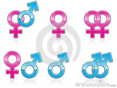 Gender Symbol Icons EPS