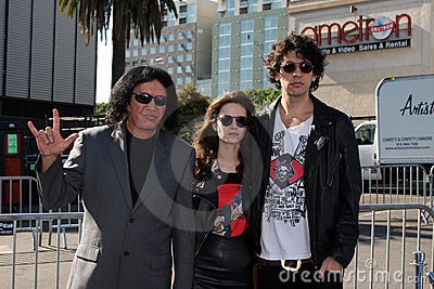 Gene Simmons, Nick Simmons Editorial Stock Image