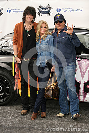 Gene Simmons,Nick Simmons,Shannon Tweed Editorial Stock Photo