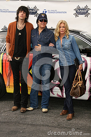 Gene Simmons,Nick Simmons,Shannon Tweed Editorial Photography