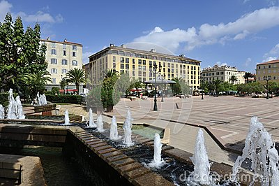 General de Gaulle Square in Ajaccio