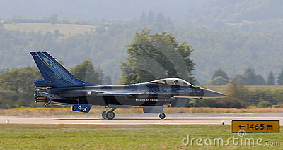 General Dynamics F-16 Fighting Falcon Editorial Stock Photo